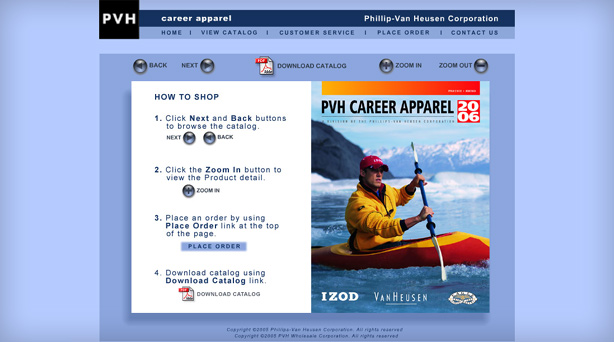 thumbnail of the landing page features whitewater rafter wearing van-heusen jacket