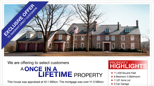 thumbnail of the landing page features a huge house
