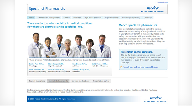 thumbnail of the landing page features group of pharmacists