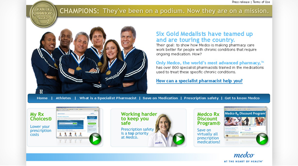 thumbnail of the landing page features 6 olympic athletes